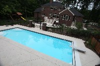Luxor Deep Fiberglass Pool in Stony Point, NC